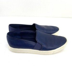 Vince Blair Perforated Blue Slip On Shoes Size 7.5